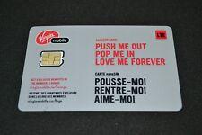 Lot of 100 Virgin Mobile Nano-SIM cards 4G LTE Bulk Wholesale Canada