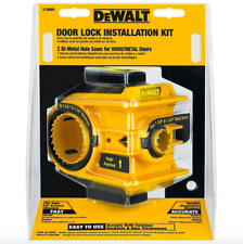 Dewalt Door Deadbolt Lock Installation Kit Bi Metal Hole Saw Drill BIt Tool Set