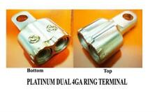 4GA RING TERMINAL PLATINUM PLATED DOUBLE 4 GAUGE WIRE
