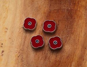 Red Poppy Flower flotting charms