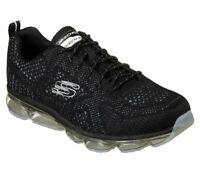 Black White Casual Skechers Shoes Men's Memory Foam Air Sport Knit Comfort 52973