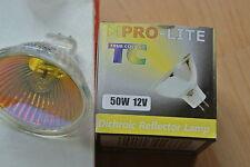 Pro-Lite Tc Color verdadero MR16 12v bombilla halógena de amarillo 50w 60D Reflector dicroico