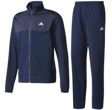 New Mens Adidas Full Tracksuit Jogging Bottoms Zip Jacket Track Top - Navy Blue