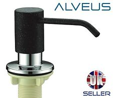 ALVEUS BLACK SOAP WASHING UP LIQUID DISPENSER PUMP ACTION WORKTOP KITCHEN SINK