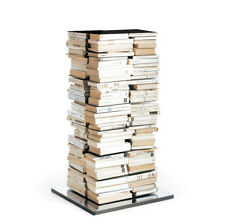OPINION CIATTI libreria PTOLOMEO PTX4-A nera con base inox 110 cm 240 libri