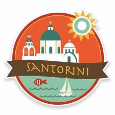 2 x Santorini Greece Vinyl Sticker Car Travel Luggage #9490