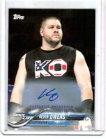 WWE Kevin Owens 2018 Topps Authentic Autograph Card SN 67 of 99