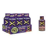 12x Bottles - Stacker Extra Strength - Blue Raspberry -Energy Shot - 0Sugar