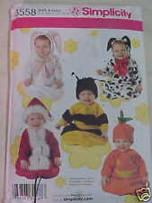 Simplicity 3558 BABY COSTUME PATTERN / BUNNY, PUMPKIN,