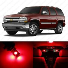 10 x Brilliant Red LED Interior Light Package For 2000 - 2006 Chevy Tahoe