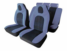 BMW 1 3 5 SERIES Universal D-ZINE Hi-Back Car Seat Covers in Grey & Black
