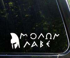 Molan Labe w Spartan Come and take them- decal/sticker gun control 2nd amendment