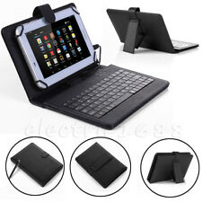 """Amazon Kindle Fire HD 7 8 10"""" Fire 7 HDX 7 PU Leather Tablet Case Cover Keyboard"""