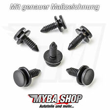 10x Türverkleidung Clips Befestigung Clip Audi A3, VW Golf, Schwarz 3B0867333