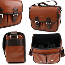 Brown PU Leather Satchel Carry Bag For Fujifilm Instax Mini Cameras