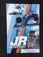 JR Hildebrand 2019 Indy Car Indianapolis 500 Promo hero Card Autographed