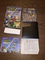 Teenage Mutant Ninja Turtles III 3 Nintendo Nes Complete in Box CIB Manhattan