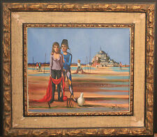 """Mont St.Michel"" Vibrant Oil on Canvas signed: ""W. Serrier Paris1966"" Awesome!"