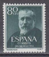 SPANIEN (1954) MNH NUEVO SIN FIJASELLOS - EDIFIL 1142 MARCELINO MENENDEZ