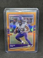 2020 Panini NFL Donruss Optic- #64-Dalvin Cook-Orange Prizm 014/199 Vikings