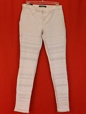NWT J BRAND WHITE STUDDED GENEVIES MID RISE SUPER SKINNY JEANS 28 $995