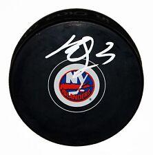 KYLE OKPOSO SIGNED NEW YORK ISLANDERS PUCK NY STAR NHL ISLES AUTOGRAPHED +COA