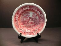 "Scarce 7 3/4"" Rimmed Soup Bowl by Copeland ( Spode's ) Tower Pink"