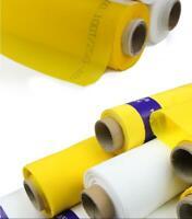 Yellow 3 Yards 300 Mesh Silk Screen Printing Mesh Fabric Polyester 120T Factory