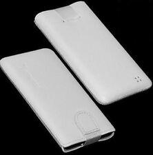 Für Nokia E7 Handy ECHT LEDER Tasche / Case / Etui / Hülle Weiss NEU
