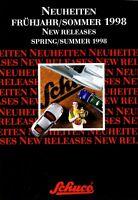 1009SCH Schuco Neuheiten Frühjahr Sommer 1998 Prospekt Modellautos brochure