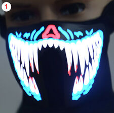 Face Mask Led Light Up Flashing Halloween Party Costume show Cosplay Decor