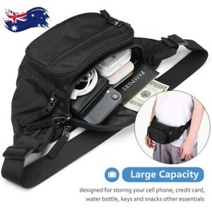 Waterproof Multi Purpose Waist Bum Bag Belt Pouch Wallet Zip Pack Sports Travel