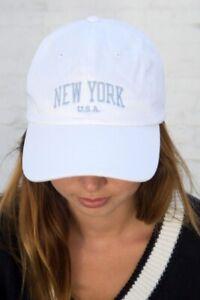 Brandy Melville white Katherine New York cap Hat NWT OS