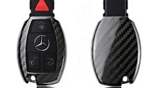 100% REAL CARBON FIBRE PROTECTIVE CASE FOR MERCEDES-BENZ 2/3 BUTTON KEY FOB C E