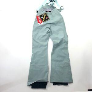 $399 Womens XS S M L Chugach Ski Bib Pants Goretex Recco Snowboard Blue Storm 3