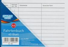 100 Fahrtenbücher DIN A6 Stylex Fahrtenbuch 40 Blatt