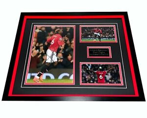 SALE PAUL POGBA MANCHESTER UNITED HAND SIGNED FRAMED PHOTO DISPLAY AUTHENTIC COA