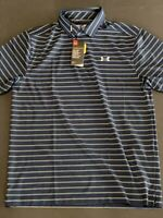 Under Armour Men's Polo CoolSwitch Playoff Polo Spieth Striped Golf Shirt Medium