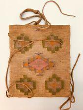 Nez Perce Native American Cornhusk Bag - Late 1800s -Geometric Patterns Woven In
