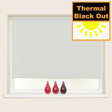 Thermal Blackout Roller Blind - up to 240cm Width - Many Colours and Sizes Grey 180cm