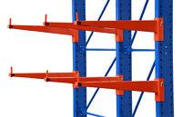 Kragarmregal 3,3m lang, H: 3,5m, Belastung je Arme 500kg, 2 Ebenen Kragarmregale