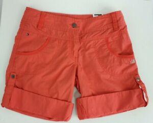 Tommy Hilfiger BNWT 60 Orange Gefalteter Enden Mädchen Bermuda Shorts Größe 14