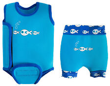 SwimBest Baby Wetsuit & Swim Nappy Set * SAVE £'s* Cute Fish Logo (Girls&Boys)
