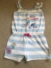 charlie & lola Size  1-1/2 - 2 Years girls  Blue And White Sleeveless Playsuit
