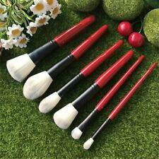 hakuho-do-sephora 6pcs makeup brush set powder/blush/foundation/high gloss