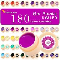 Venalisa 5ml Gel Paint UV Nail Gel Soak Off Nail Art  Lacquer Painting Gel 1P