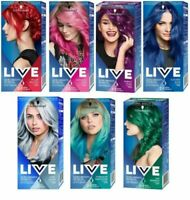 Schwarzkopf LIVE Ultra Brights and Pastel 2 in1 Semi Permanent Hair Dyes GERMANY