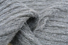 SLD92 BOILED FELTED WOOL-MOHAIR BLEND DARK GREY'S WITH BLACK STRIPE SOFT KNIT
