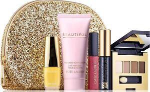 Estee Lauder Beautiful Parfum,Lotion,Eyeshadow Palette,Gloss,Mascara Gift Set