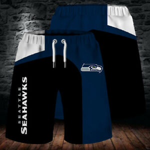 Seattle Seahawks Football Beach Shorts Mens Cool Loose Summer Shorts Swim Trunks